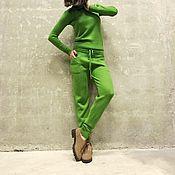 Одежда ручной работы. Ярмарка Мастеров - ручная работа Костюм вязаный женский  Greeny. Handmade.