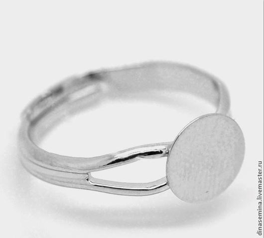 1.Кольцо раздвоеное прост диск д8мм серебр -18р