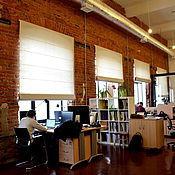 Для дома и интерьера ручной работы. Ярмарка Мастеров - ручная работа Римские шторы для офиса. Handmade.