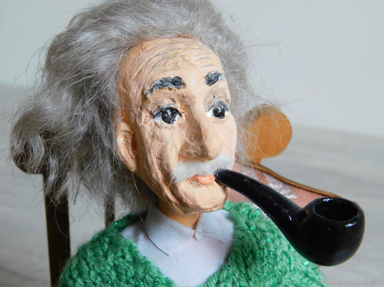 Портретные куклы ручной работы. Ярмарка Мастеров - ручная работа. Купить ЭЙНШТЕЙН коллекционная кукла. Handmade. Коллекционная кукла