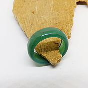 Украшения handmade. Livemaster - original item Green agate ring, chalcedony 20.5 R-R. Handmade.