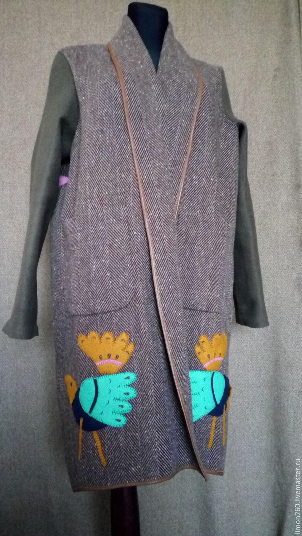 Шерстяные пальто ручной работы