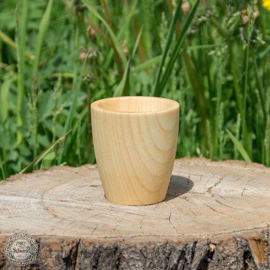 Кружки и чашки ручной работы. Ярмарка Мастеров - ручная работа. Купить Стакан из сибирского кедра 80мм  для чая и др. Натуральный кедр С1. Handmade.