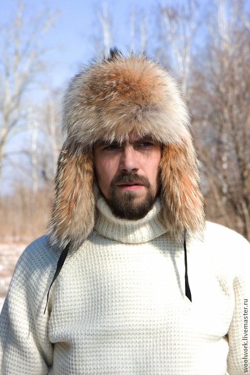 Вязаный свитер белый шерстяной  свитер ручной работы   белый свитер однотонный подарок для мужчины   из натуральной шерсти  для отдыха  воротник – гольф   для женщины  подарок на любой случай   WW