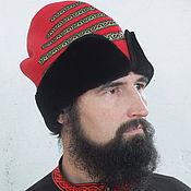 Русский стиль handmade. Livemaster - original item Red hat Walecka. Handmade.