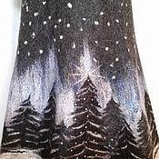 """Одежда ручной работы. Ярмарка Мастеров - ручная работа Юбка валяная, зимняя. """"Новый год"""". Handmade."""