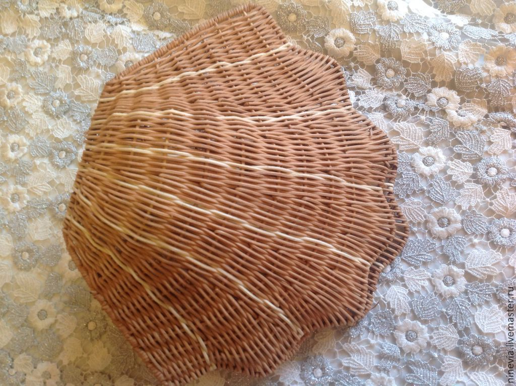 Плетеная ракушка своими руками 75