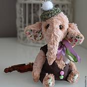 Куклы и игрушки ручной работы. Ярмарка Мастеров - ручная работа Слон Моня музыкант. Handmade.