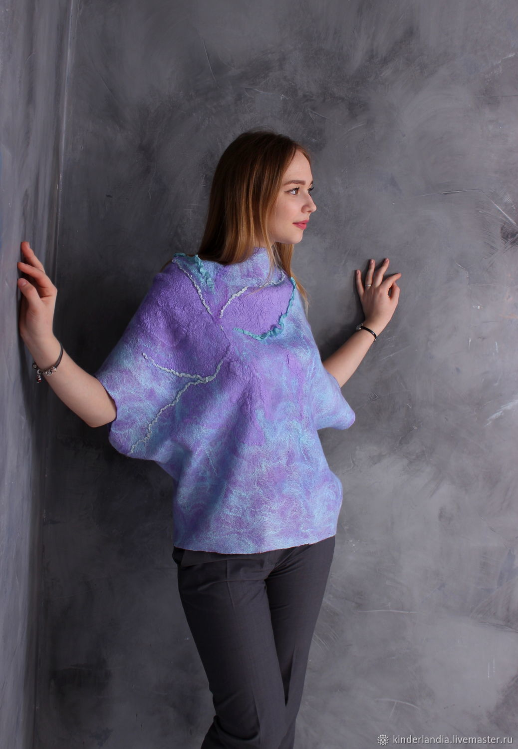 Blouse felted Mountain lavender, Blouses, St. Petersburg,  Фото №1