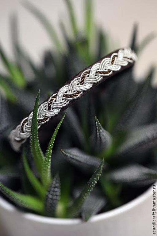 """Браслеты ручной работы. Ярмарка Мастеров - ручная работа. Купить Яркий кожаный шведский браслет для мужчин и женщин """"Бурлящая река"""". Handmade."""