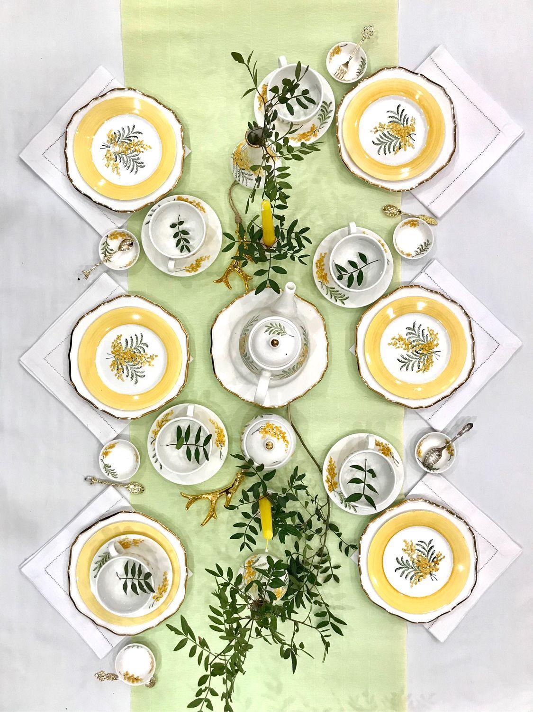 Painted porcelain tea Set Mimosa, Tea & Coffee Sets, Kazan,  Фото №1