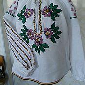 Одежда ручной работы. Ярмарка Мастеров - ручная работа Женская вышитая блузка ручная вышивка. Handmade.