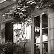 Париж город ночью, купить черно белую фотокартину для интерьера «В свете ночных теней», Елена Ануфриева