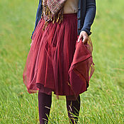 "Одежда handmade. Livemaster - original item Tutu skirt ""Audrey"", marsala. Handmade."