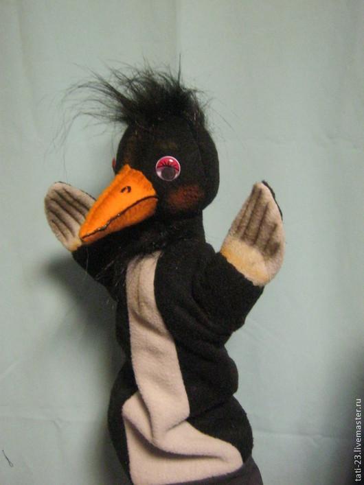 Кукольный театр ручной работы. Ярмарка Мастеров - ручная работа. Купить Театральная перчаточная кукла Ворона. Handmade. Разноцветный, флис