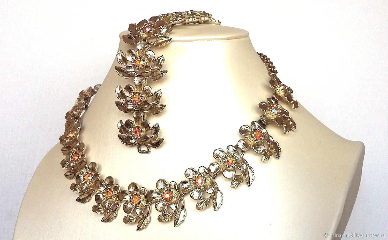Collar y pulsera Judy Lee, finales de los años 50 y principios de los 60, Vintage jewelry sets, Blagoveshchensk,  Фото №1
