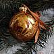 """Новый год 2017 ручной работы. Заказать """"Золотые"""" Волшебные шары на елку. Волшебство воды (watermagic). Ярмарка Мастеров. Необычные игрушки"""