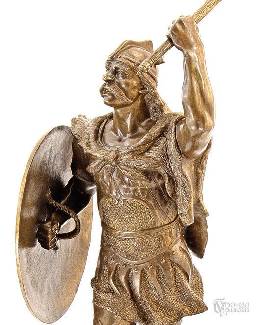 Элементы интерьера ручной работы. Ярмарка Мастеров - ручная работа. Купить Галльский воин. Handmade. Воин, скульптурная миниатюра, литьё