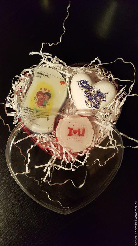 """Мыло ручной работы. Ярмарка Мастеров - ручная работа. Купить Набор """"С любовью"""". Handmade. Комбинированный, подарок на день валентина"""