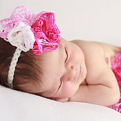 Работы для детей, handmade. Livemaster - original item Dress with dressing for a photo shoot (pink set). Handmade.