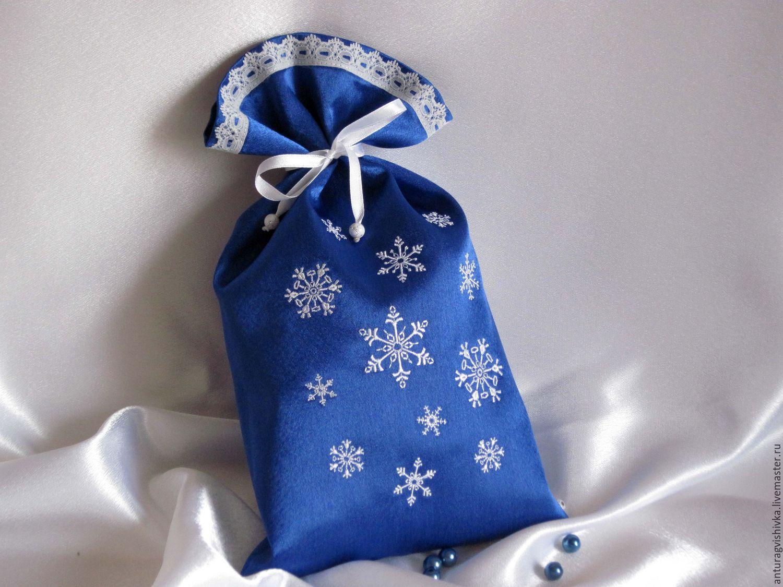 Мешочки для подарков новогодние подарки 32