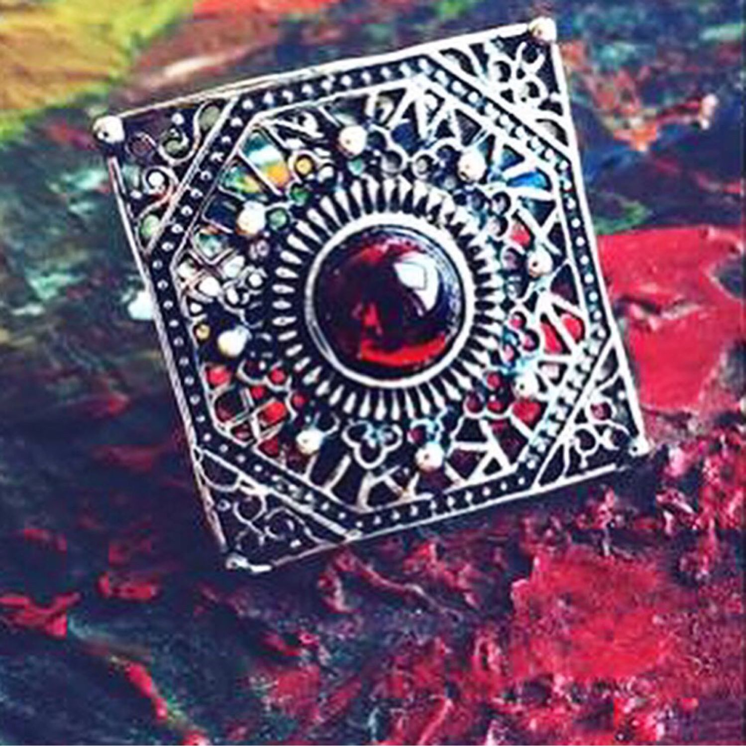 ZARD. Ring in sterling silver with garnet, Rings, Moscow,  Фото №1