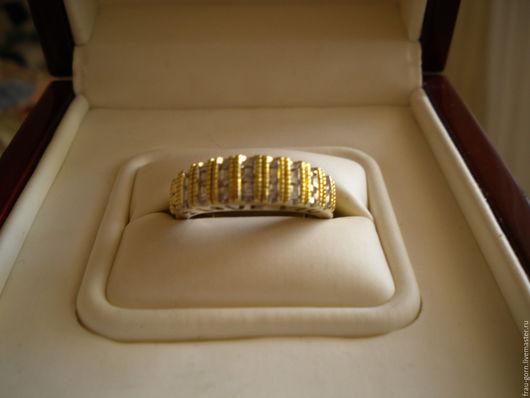 """Кольца ручной работы. Ярмарка Мастеров - ручная работа. Купить Кольцо из золота (10 k) с 27 бриллиантами """"I love you"""". Handmade."""