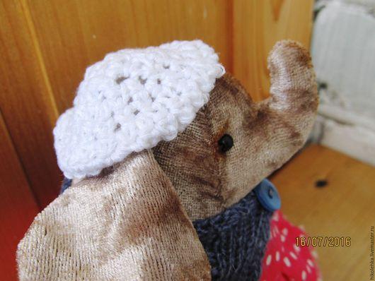 Мишки Тедди ручной работы. Ярмарка Мастеров - ручная работа. Купить Слониха Кокетка. Handmade. Коричневый, слониха, плюш винтажный