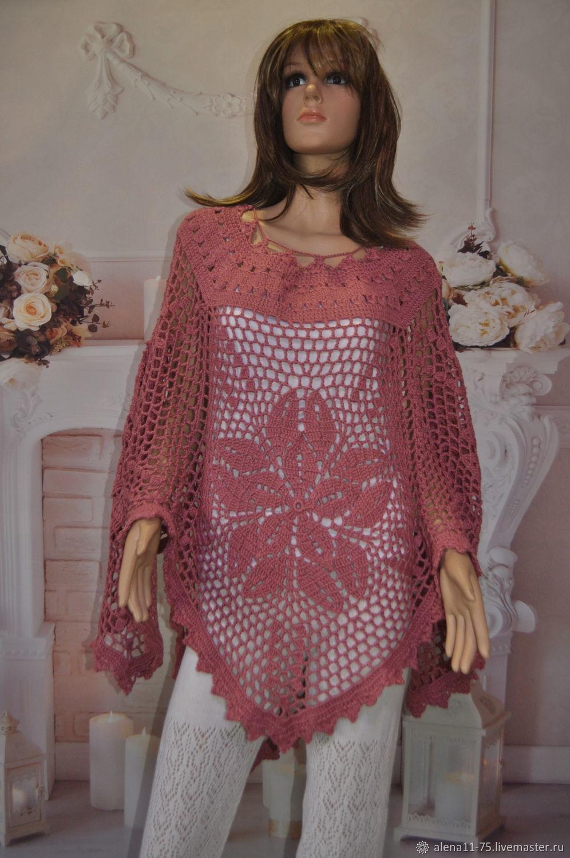 Knitted poncho, Ponchos, Lipetsk,  Фото №1