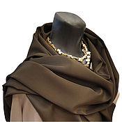 """Шарфы ручной работы. Ярмарка Мастеров - ручная работа Шелковый шарф """"Бронзовый хаки"""", натуральный шелк. Handmade."""