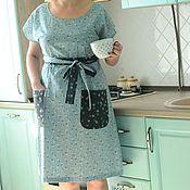 Одежда ручной работы. Ярмарка Мастеров - ручная работа Платье домашнее бирюзовое. Handmade.
