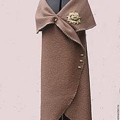 Одежда ручной работы. Ярмарка Мастеров - ручная работа Кардиган из ткани.Пальто без руковов.. Handmade.