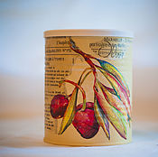 Для дома и интерьера handmade. Livemaster - original item Jar decoupage olive Branch. Handmade.
