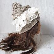 handmade. Livemaster - original item Beige cap with lace