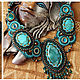 Jewellery Sets handmade. Order necklace 'Morocco' (3 options!). Nataly Uhryn Bead Design. Livemaster. Oriental style, turquoise