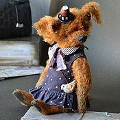 Тедди Зверята ручной работы. Ярмарка Мастеров - ручная работа Тедди Зверята: Собачка. Handmade.