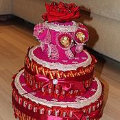 """Подарки к праздникам ручной работы. Ярмарка Мастеров - ручная работа Торт """"Юбилейный"""". Handmade."""