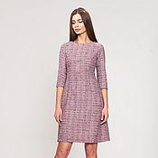 Одежда ручной работы. Ярмарка Мастеров - ручная работа Розовое платье с завышенной талией. Handmade.