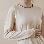 Одежда handmade. Livemaster - original item Classic cashmere pullover. Handmade.
