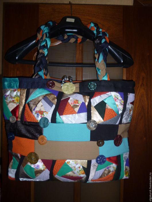 Женские сумки ручной работы. Ярмарка Мастеров - ручная работа. Купить Сумка в стиле крейзи. Handmade. Синий, подарок подруге