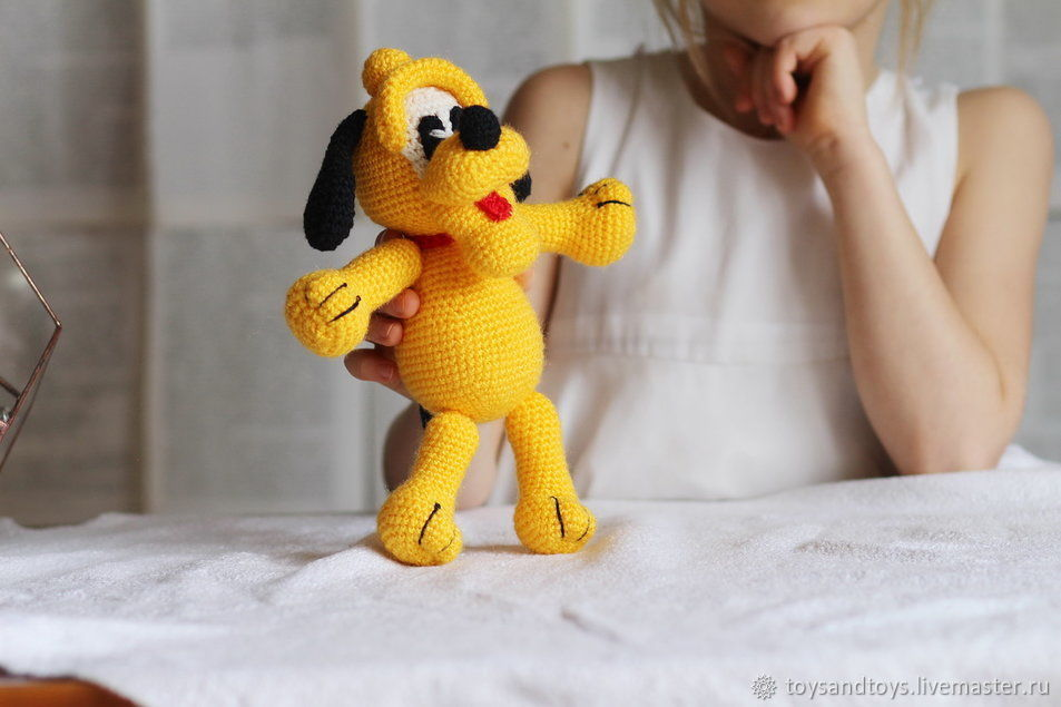Собачка  жёлтого цвета, Мягкие игрушки, Гуково,  Фото №1