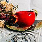 Чайные пары ручной работы. Ярмарка Мастеров - ручная работа Чайная пара : символ успеха.. Handmade.