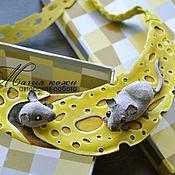 """Комплект браслетов ручной работы. Ярмарка Мастеров - ручная работа Комплект из кожи """"Мышкино счастье"""". Handmade."""