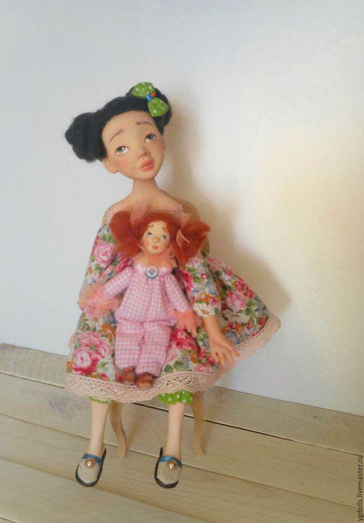 Коллекционные куклы ручной работы. Ярмарка Мастеров - ручная работа. Купить Куколка Маруся. Handmade. Розовый, кукла на заказ