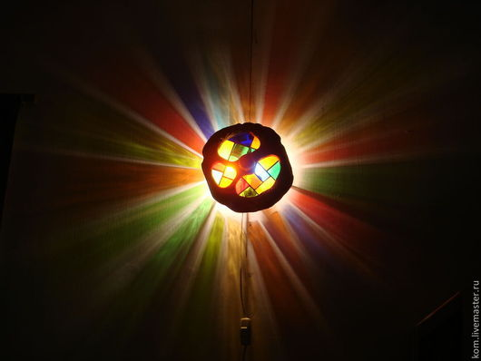 """Освещение ручной работы. Ярмарка Мастеров - ручная работа. Купить лампа """"Затмение солнца"""". Handmade. Светильник ручной работы, бра"""