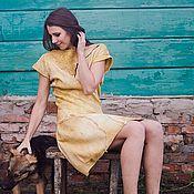 """Одежда ручной работы. Ярмарка Мастеров - ручная работа Валяное платье """"Горчица"""". Handmade."""