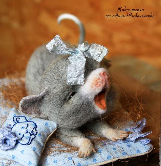 Игрушки животные, ручной работы. Ярмарка Мастеров - ручная работа. Купить Мышка Дуняшка. Handmade. Серый, крыса игрушка, игрушка