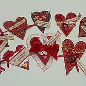 Открытки ручной работы. Ярмарка Мастеров - ручная работа Открытки- валентинки на магнитах. Handmade.