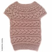 Одежда handmade. Livemaster - original item Vest women`s Dusty rose, knitted spokes, sequins, kid mohair. Handmade.