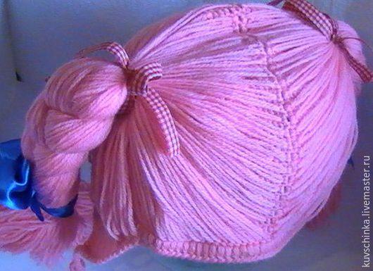 Шапочка-причёска `Славянка`  Цвет: нежно-розовый.  На заказ изготовим любого размера и любого цвета.